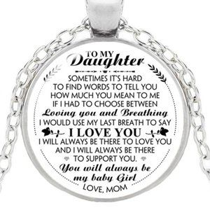 Jewelry - DAUGHTER Necklace I'll always be there From Mom